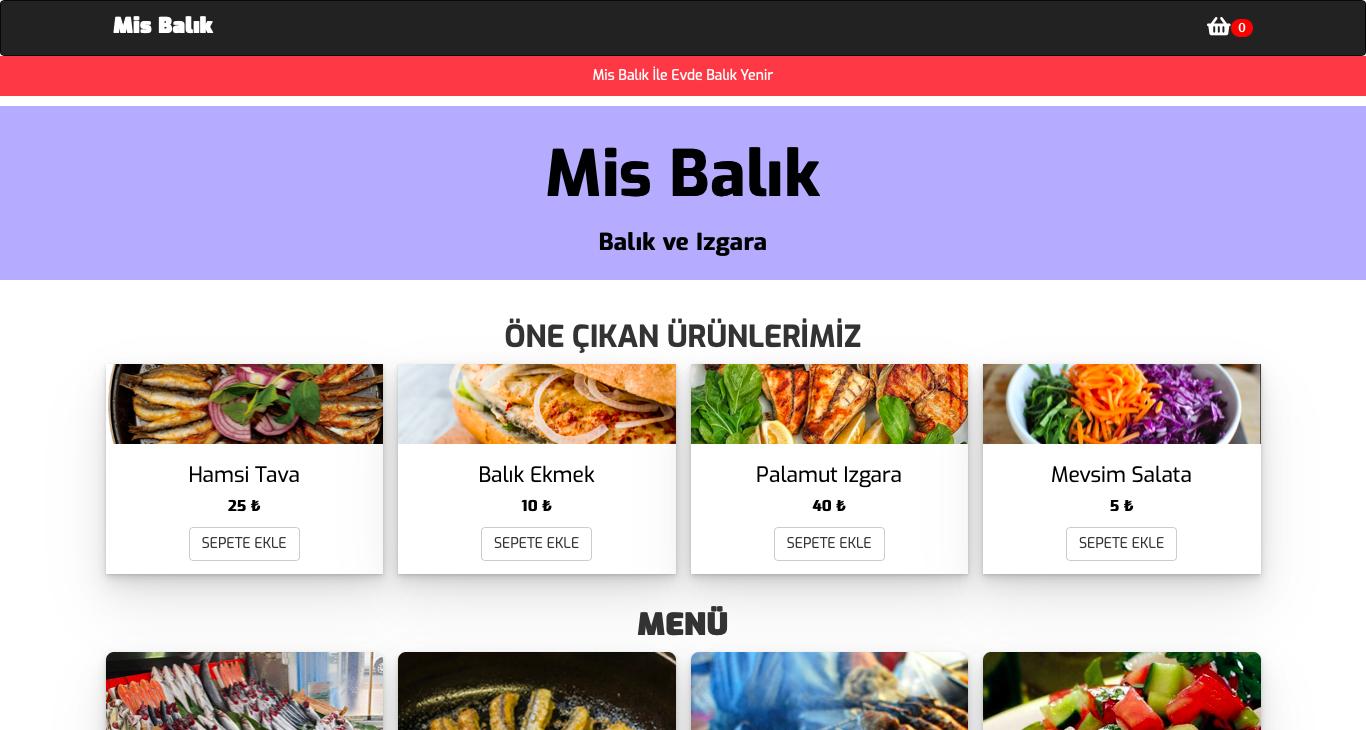 Mis Balık Maltepe Dijital Menü İçin Bizi Tercih Etti